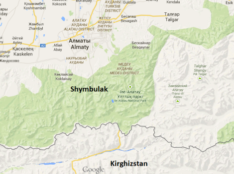 shymbulak map